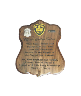 SAPD Badge Plaque